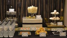 New Year's Eve, black, white, silver, gold New Year's Party Ideas | Photo 1 of 24