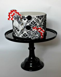 Black, White, Red Cake