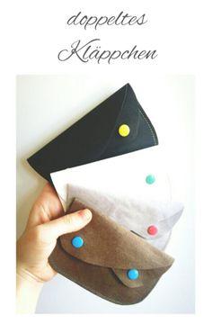 kleiner Geldbeutel aus SnapPap (=veganes Leder) --> nur eine Naht!