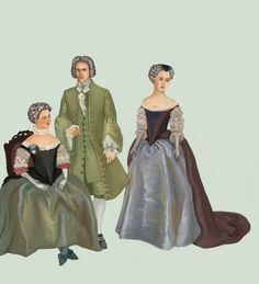 1720 In 1720s there was a distinction between comfortable, everyday wear and formal court wear.  Robes de cour appeared first during Louis XIV's reign and, with some modifications, were present for the following century. They had boned bodices with wide necklines. The bodice was cut separately from the skirt, was laced in the back and was worn with lacy sleeves. The skirt was worn over a small hoop until 1740s, when  it was replaced by panniers.