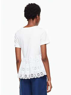 eyelet flounce tee by kate spade new york