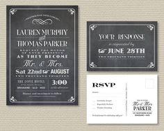Printable RSVP Postcard | Printable Wedding Invitation & RSVP postcard - Vintage poster ...