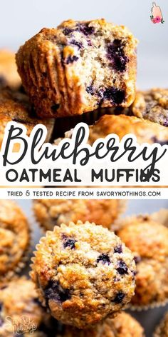 Healthy Blueberry Oatmeal Muffins Blueberry Oatmeal Muffins are an easy breakfast or snack to stash in the freezer. They are made with whole grains and sweetened with honey – a quick, easy and nutritious recipe that's perfect for meal prep! Oatmeal Blueberry Muffins Healthy, Healthy Muffins, Healthy Blueberry Desserts, Oatmeal Breakfast Muffins, Whole Wheat Blueberry Muffins, Recipe For Blueberry Muffins, Oatmeal Cupcakes, Banana Oat Muffins, Oatmeal Cups