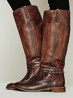 Frye 500 Miles Distressed Tall Boot at Free People Clothing Boutique