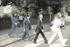 The Beatles, Abbey Road, London, 1969. This is harder to do than it may appear...