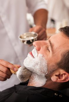 Getting a professional shave is so...