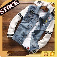 L933 Fashion Clothing 2017 Fall And Winter Jeans Coat Wash Long Sleeve Cotton Split Joint Denim Jacket Men clothing Plus Size
