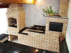 churrasqueiras modernas - Pesquisa Google Interior Design Living Room, Living Room Designs, Living Spaces, Exterior Design, Interior And Exterior, Crazy Kitchen, Wood Oven, Oven Cooker, Stove Oven