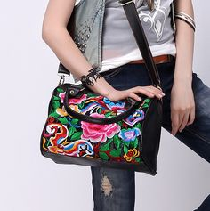 40% OFF #Sale Boho Floral Satchel #bag #leather