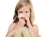 www.frostedproductions.com | #utah #photographer #studio #photography #beautiful #girl #blue #eyes #smelling #flower #tulle #dress