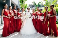 Find More Bridesmaid Dresses Information about 2015 Red V Neck A Line Chiffon vestidos de novia Junior Bridesmaids Dresses For Weddings dress maid of marriage,High Quality dresses of indian people,China dresses chiffon Suppliers, Cheap dress hunter from Rosemary Bridal Dress on Aliexpress.com