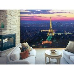 """Paris Wall Mural - 8'3""""x13'8"""".Opens in a new window"""