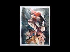 Abstrakt akvarel maling i huritgt tempo - YouTube