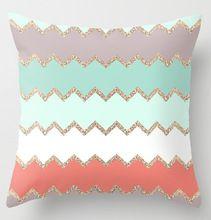 Nueva luz de onda de colores Avalon Coral inicio alquiler de decoración personalizada Throw pillow cojín increíble fundas de almohada ambos lados imprimen(China (Mainland))