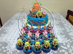 Bolo Bob Esponja/Sponge Bob Cake and cupcakes