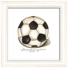 Soccer Ball Collectable Framed Print