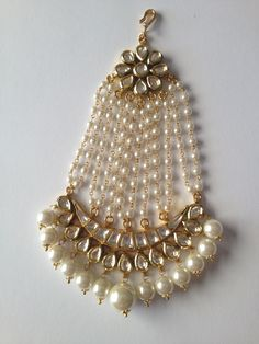 Silver Gold Jhoomar with Pearls