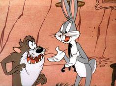 """Un día como hoy 19 de junio en 1954,el mundo veía por primera vez al Demonio de Tazmania en el corto """"Devil May Hare"""" junto a Bugs Bunny. Bugs Bunny, Disney Characters, Fictional Characters, Retro, Dogs, Art, Tv Shows, First Time, June"""