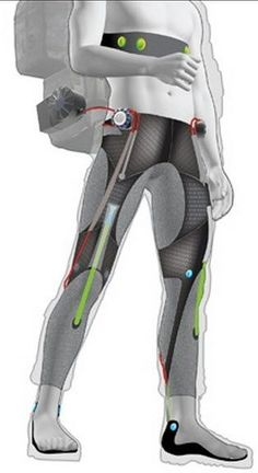 Cool Wearables - A soft 'wearable robot' exosuit to increase stamina for soldiers and civilians Wearable Device, Wearable Technology, Science And Technology, Exoskeleton Suit, Powered Exoskeleton, Tech Gadgets, Cool Gadgets, Pc Cases, Increase Stamina
