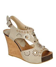 Beige Skull Calm Wedge Sandal by Reneeze Wedge Sandals, Leather Sandals, Wedge Shoes, White Wedges, Shoe Deals, Dream Shoes, Shoe Collection, Ankle Strap, Fashion Shoes