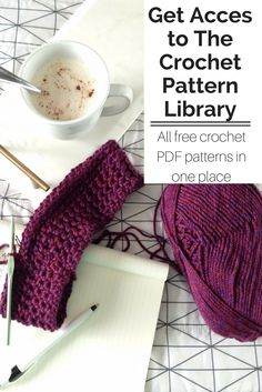 Get exclusive access to the crochet pattern library. All of my free crochet patterns in one simple place. Download a pattern, grab a coffee, and start your next project.