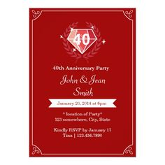 surprise anniversary party invitations big type pinterest
