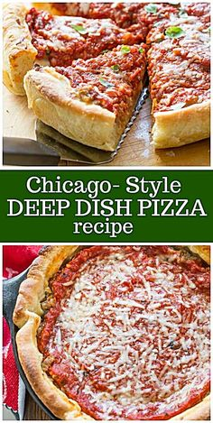 Chicago Style Deep Dish Pizza - The Best German Recipes Pizza Recipes, Cooking Recipes, Skillet Recipes, Cooking Gadgets, Kitchen Recipes, Recipes Dinner, Deep Dish Pizza Recipe, Homemade Pizza Recipe, Gastronomia