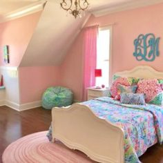 Summer dreams start with this Lilly Pulitzer Party Patchwork Quilt in fun tropical-inspired prints. Sky blues, botanical greens and pops of orchid pink mix with lots of texture to bring Lilly's iconic style their room. Girls Bedroom, Girl Beds, Bedroom Makeover, Room Color Schemes, Pretty Bedroom, Dream Bedroom, Bedroom Diy, Home Decor, Bedroom Decor