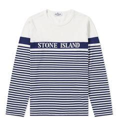 Stone Island Junior, Printed Tees, Striped Tee, Stripe Print, Sweatshirts, Long Sleeve, Jumper, Mens Tops, T Shirt