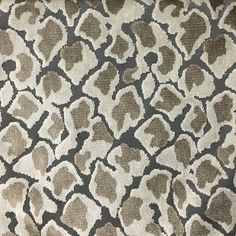 Hendrix - Leopard Print Cut Velvet Fabric Upholstery Fabric by the Yar - Top Fabric