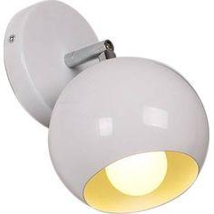 Gezien op beslist.nl: Retro Lamp Bolvormig Instelbaar Wit