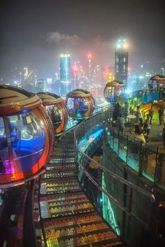 Top of Canton Tower in Guangzhou, China. Photo by Andrey Khludeyev