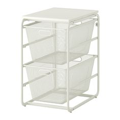For the laundry room remake (future tense).  Three of these Ikea baskets with a table across the top.