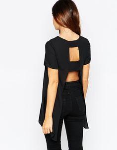 ASOS palangre Camiseta con espalda abierta