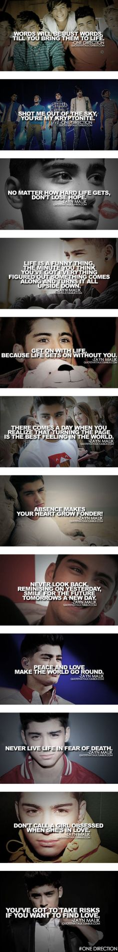 """One Direction Quotes ♥"" by wolfgirl07 ❤ liked on Polyvore. Mainly Zayn's. He is such a beautiful person."