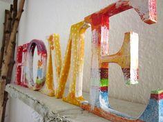 Buchstaben & Schriftzüge - Deko-Buchstaben HOME aus Holz/MDF - ein Designerstück von duenenmaedchen bei DaWanda