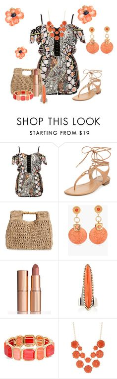 """""""Untitled #3162"""" by empathetic ❤ liked on Polyvore featuring River Island, MICHAEL Michael Kors, San Diego Hat Co., Chico's, Charlotte Tilbury, Monet and Natasha Accessories"""