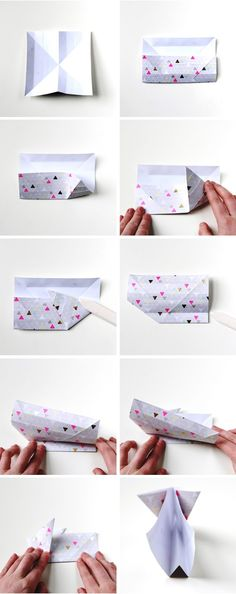 How to make Diy Origami Easter Bunny Baskets