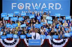 President Barack Obama speaks during a campaign event at George Mason University, Friday, Oct. 5, 2012, in Fairfax, Va PABLO MARTINEZ MONSIVAIS — AP Photo
