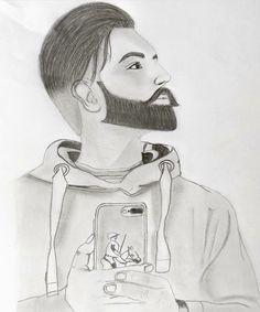 Art Drawings Sketches, Cool Drawings, Parmish Verma Beard, Punjabi Boys, Jassi Gill, Whatsapp Profile Picture, Punjabi Models, Pencil Sketching, Face Sketch