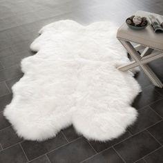 Prairie Sheepskin/ Wool White Shag Rug (5' x 8') | Overstock.com Shopping - Great Deals on Safavieh 5x8 - 6x9 Rugs