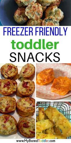 May 2017 - Freezer friendly toddler snacks. These toddler snack ideas freeze really well and are perfect healthy and nutritious lunch box fillers. Toddler Finger Foods, Healthy Toddler Meals, Toddler Lunches, Healthy Snacks For Kids, Kids Meals, Toddler Dinners, Easy Toddler Snacks, Healthy Lunches, Meals For Toddlers