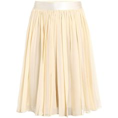 See by Chloe Gathered silk skirt ❤ liked on Polyvore
