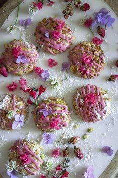 You've heard of Persian love cake, but have you tried Persian love cookies? These little things are almost to beautiful to eat! Dessert Party, Cookie Recipes, Dessert Recipes, Flower Food, Edible Flowers, Rose Flowers, Purple Roses, Rose Petals, Middle Eastern Recipes