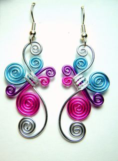 Cute Spirals Hypo Allergenic Earrings. $15.00, via Etsy.