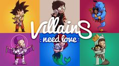 new #kickstarter project #crowdfunding Villains Need Love - Art Book by Nacho Diaz
