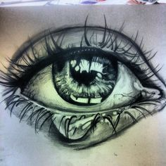 Pencil Drawing Of Eyes Crying Images & Pictures - Becuo