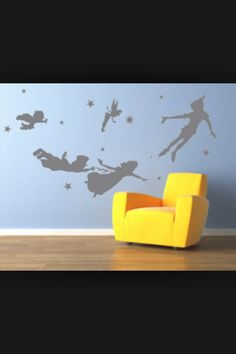 Peter Pan decal for nursery wall. Love it!