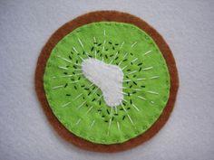 Felt Kiwi Coasters - Folksy