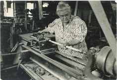 """Sister Lillian Barlow (1876 - 1942) challenged a fundamental Shaker rule when she began working in the chair shop at Mount Lebanon. By the beginning of the 20th century, Sister Lillian along with Brother William Perkins ran the Mt. Lebanon Woodworking Co. To read more of Sister Lillian's story visit www.shakerml.org/exhibitions """"Celebrating National Women's History Month"""" Shaker Museum 